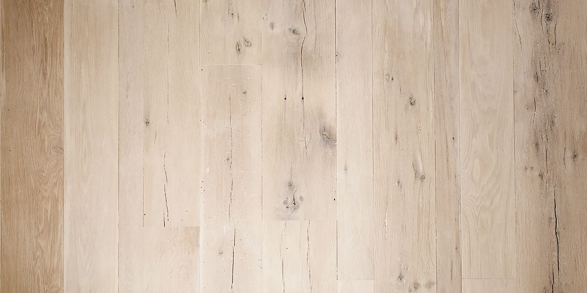Ebony and Co Antique American White Oak Extra Faded Ultramatt Poly wide planks