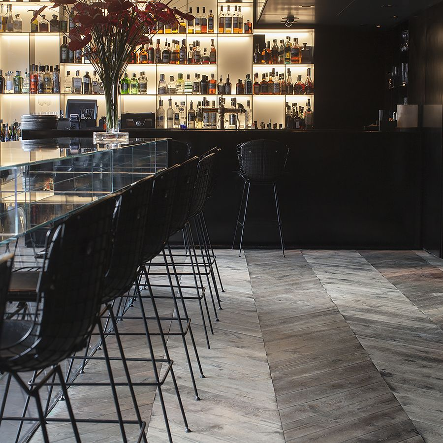 Ebony and Co project Conservatorium Hotel Chevron Antique American Ash
