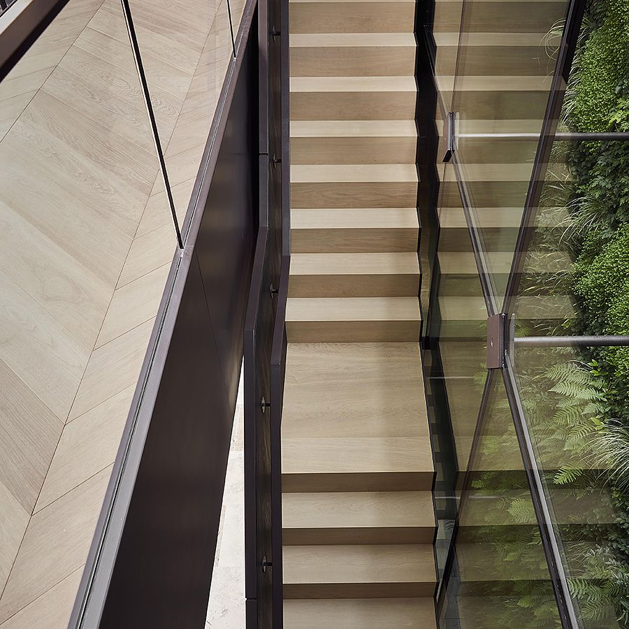 Ebony and Co Project - Continental Oak Stairs - Wide Plank Chevron Floor