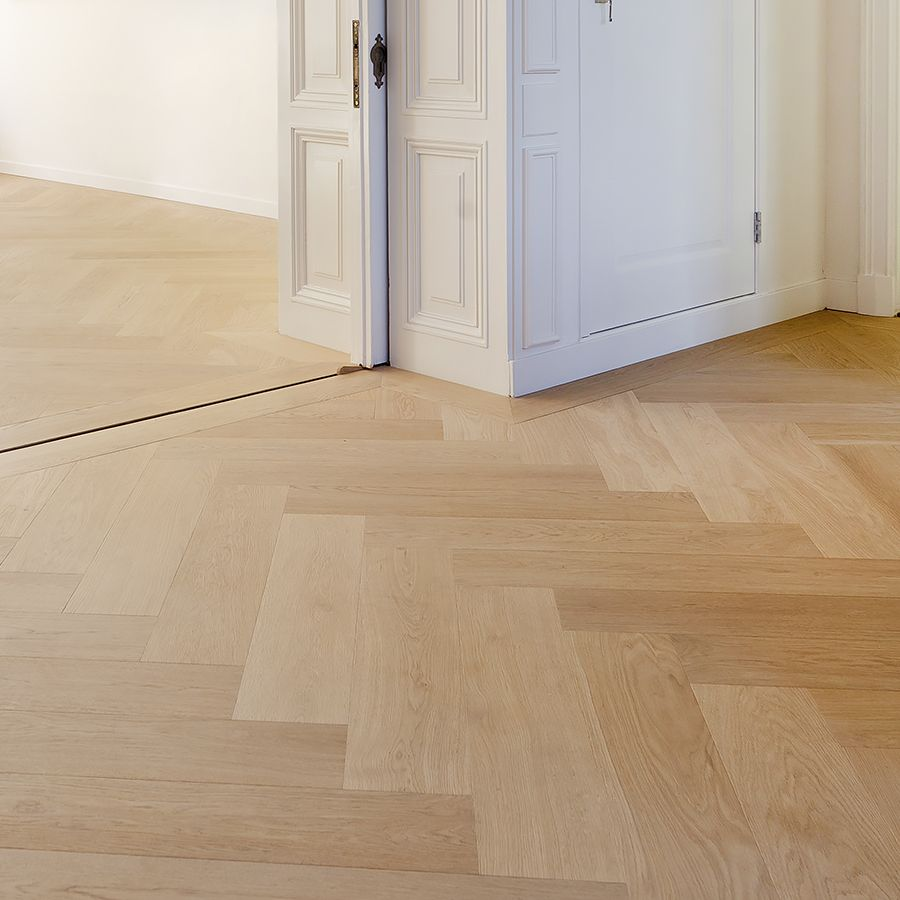 Ebony and Co Project Amsterdam Herringbone Continental Oak